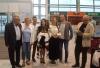 Delegacja na lotnisku we Lwowie