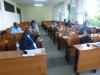 """Dar es Salaam – panel pt. """"Climate change and disaster dynamics and peace building"""" prowadzony przez prof. A. Żukowskiego, na pierwszym planie dr hab. D. Gemechu (26.09.2019)."""