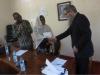 Zanzibar – spotkanie z władzami The State University of Zanzibar w celu podpisania umowy o współpracy. Od lewej: Prorektor dr. Haroun Ayoub Maalim, JM Rektor dr Zakia Mohammed Abubakar, prof. A. Żukowski (29.09.2019).