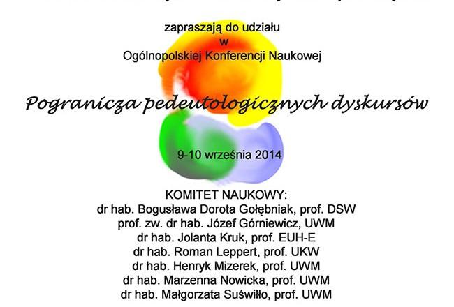 Konferencja naukowa: Pogranicza pedeutologicznych dyskursów